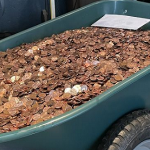 Ex-boss dumps 91,500 oily pennies in former employee's driveway as his final $915 pay after resignation