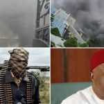 VIDEO: Gunmen set Nigerian governor Hope Uzodinma's house on fire, kill security men