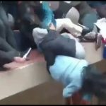 Horrifying video shows Bolivian university students falling to their death after metal rail collapses