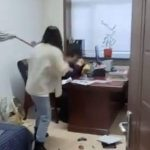 VIDEO: Woman beats her boss with mop stick for sending inappropriate text messages to her