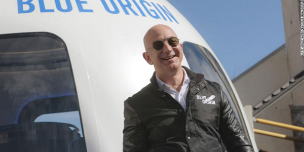 Jeff Bezos, the billionaire founder of Amazon announces he will travel to space next month