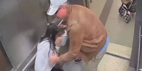 VIDEO: Shocking video shows Police employee groping 13-year-old girl in an elevator