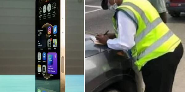 Ghanaian policewoman begs driver to return iPhone 12 pro max she forgot in his car after collecting bribe